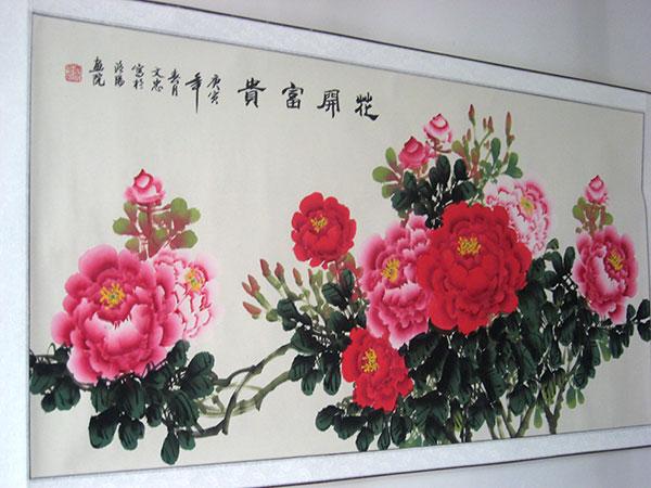 客厅牡丹图 - 牡丹画