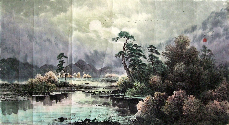 00 小八尺朝鲜国画大海《松树的波涛》 ¥2380.