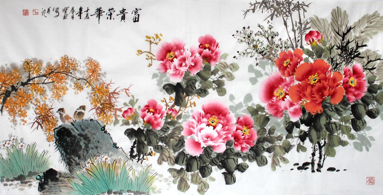 花开富贵牡丹图 - 牡丹画