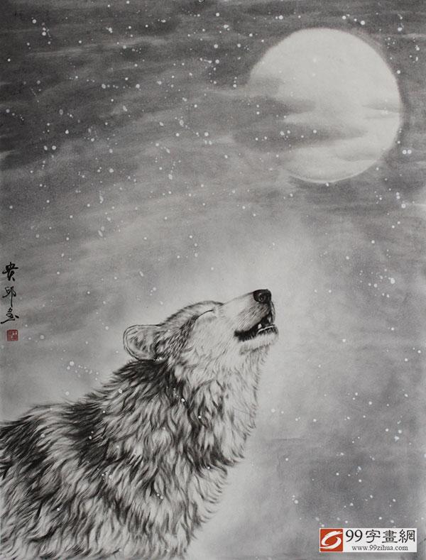 国画狼作品 - 动物画