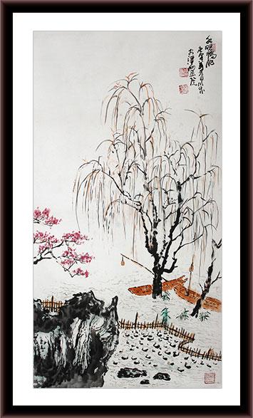 江南风景山水画作品 - 写意山水画 - 99字画网