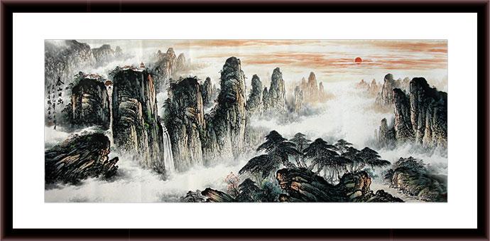 泰山山水国画作品 - 写意山水画
