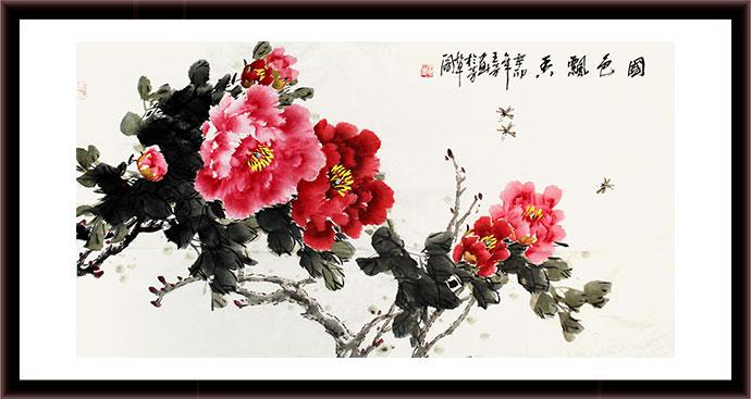 牡丹画 - 99字画网; 国画写意牡丹步骤画法;