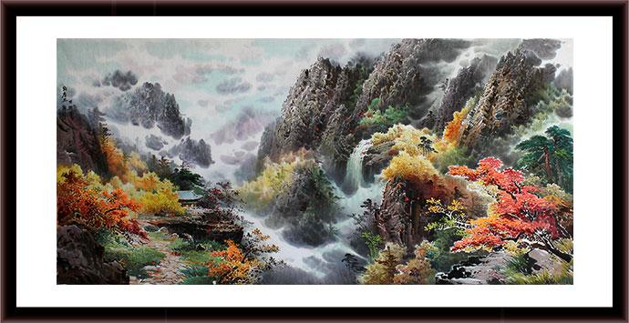 00 朝鲜国画办公室巨幅松鹰图《海金刚松树》 ¥7800.