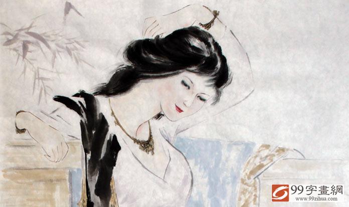 古代美女画 - 仕女图 - 99字画网
