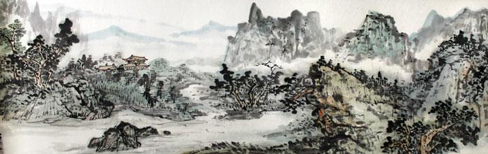 名家山水画长卷 送礼书画精品 - 写意山水画 - 99字画图片