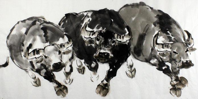 在赏析这幅招财聚财风水吉祥牛时有牛旺财运,招财纳福被称为神灵祥瑞