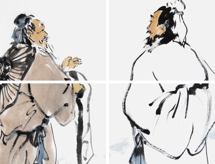 境国画摩诘诗意图图片