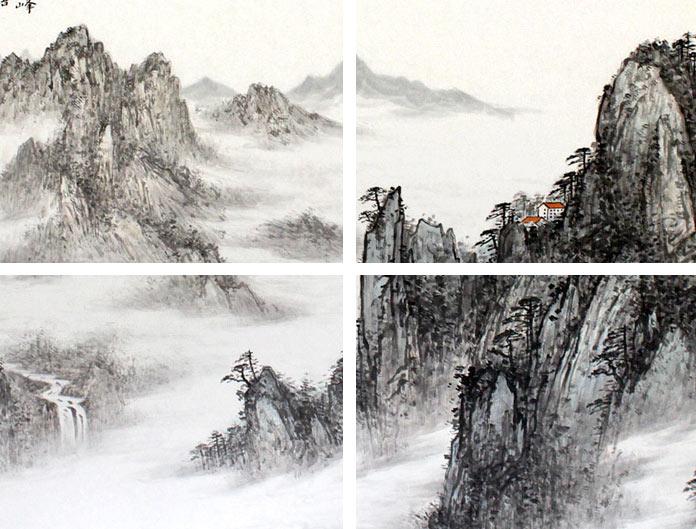 山水画大展(中国工笔画学会)  * 2010年《大岳雄浑》入选全国首届现代
