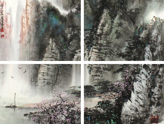 书画名家卢加先生习画至今,而后受山水画家宋雨桂先生指点.