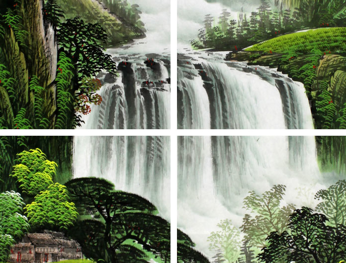 壁纸 风景 旅游 瀑布 山水 桌面 696_529