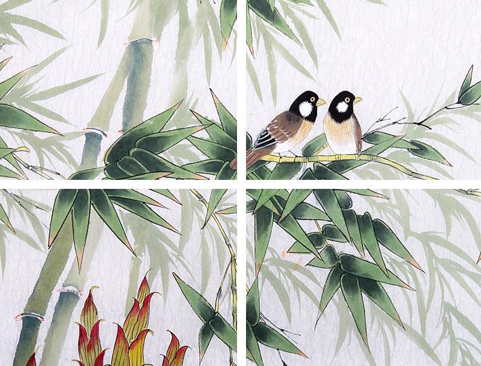 北京美协凌雪四尺竹子国画《步步高升》