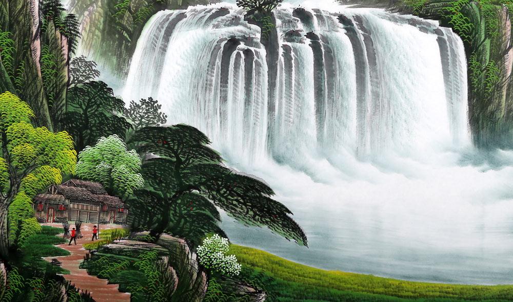 壁纸 风景 旅游 瀑布 山水 桌面 1000_590