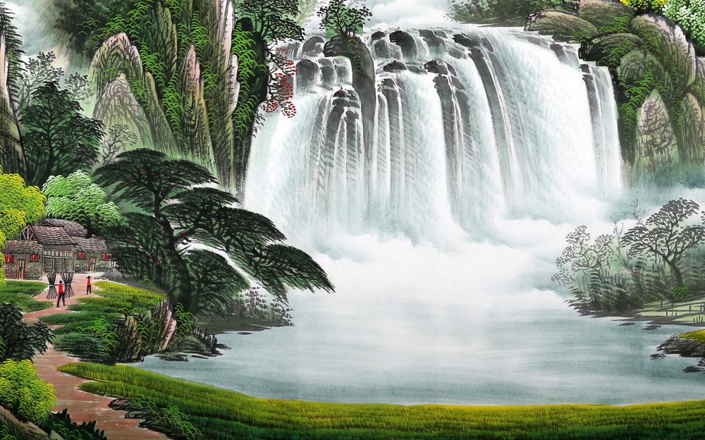 壁纸 风景 旅游 瀑布 山水 桌面 1000_624