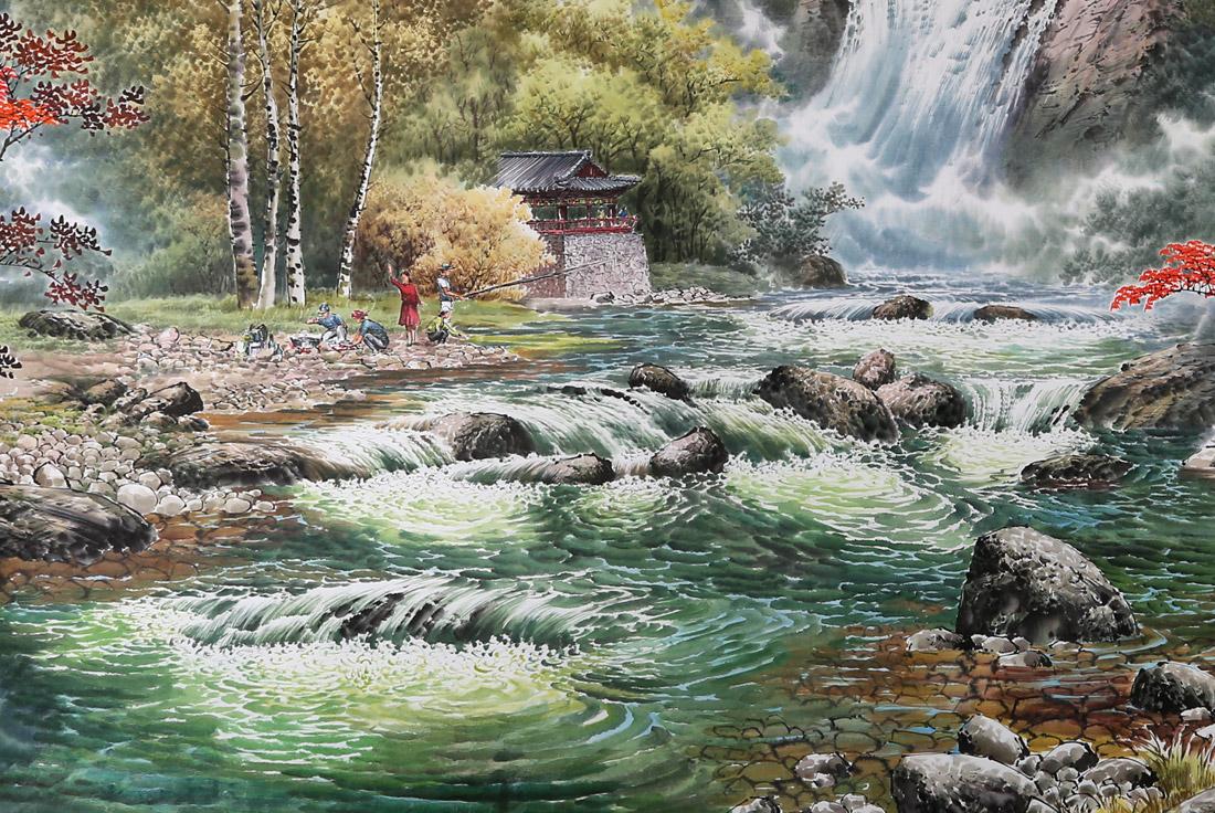 足以见朝鲜国家对传统民族艺术的重视程度.图片