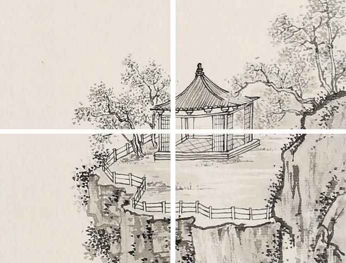 思无垠 为中国工笔画学会收藏 -名家孔祥前小尺寸 宋人笔意之溪山归