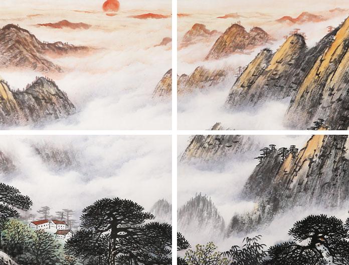 张慧仁小六尺精品山水画《紫气东来》