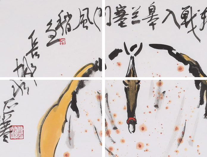 首页 动物画 骏马图  品名:游侠少年                材质:宣纸 尺寸