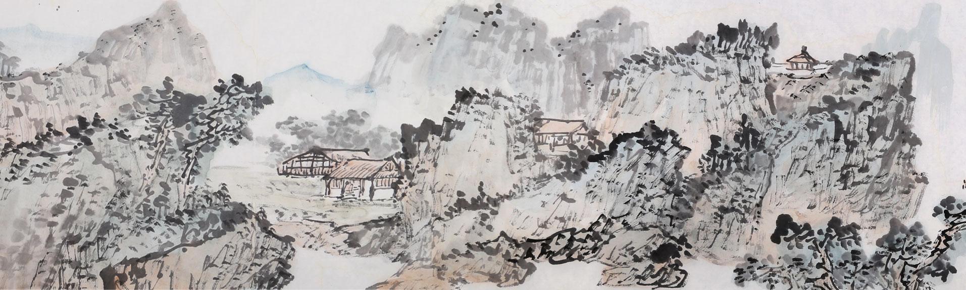 名家山水画长卷 送礼书画精品 - 书画礼品 - 99字画网图片