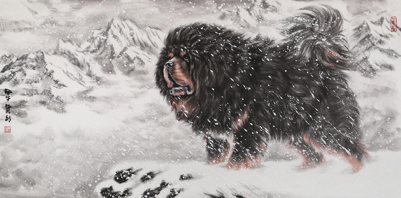 独创了工笔动物长毛画法后在人物画方面也有