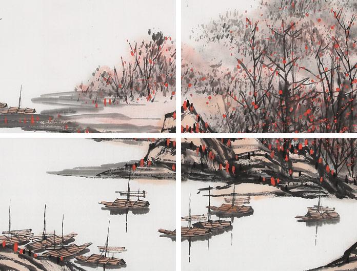 北京美协张春奇 四尺《洞庭秋月红处处》 - 写意山水