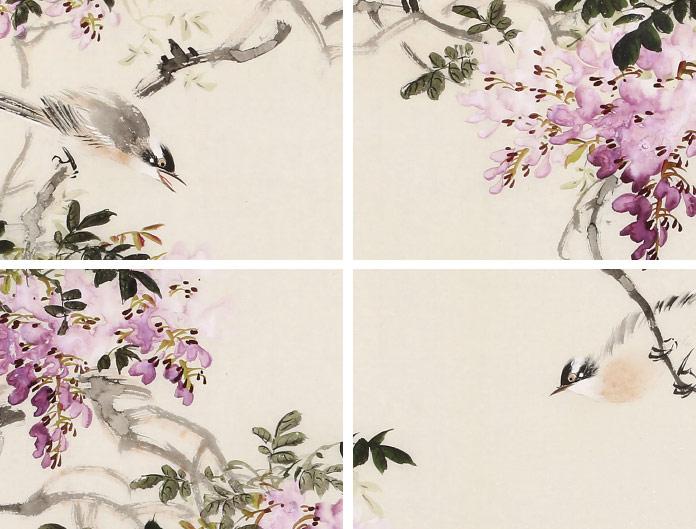 皇甫小喜 四尺《紫气东来》 河南著名花鸟画家图片