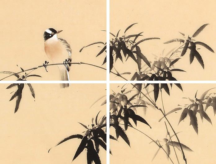 【已售】皇甫小喜 四尺《竹报平安》 河南著名花鸟画家图片