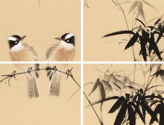 皇甫小喜 四尺斗方写意梅花图《竹鹊图》 - 梅花图