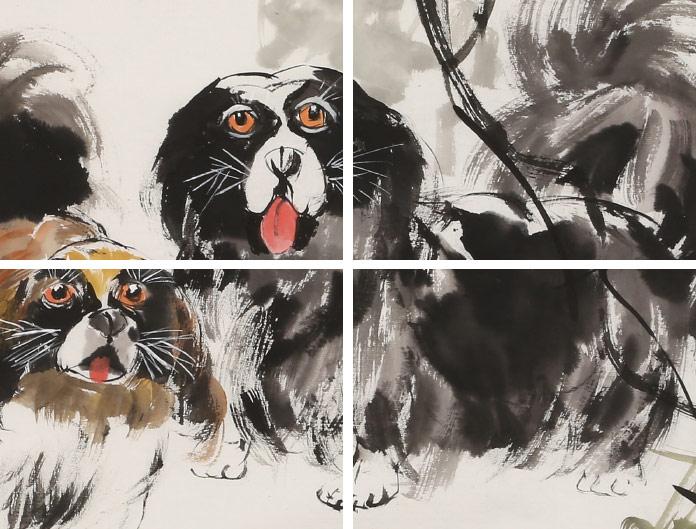 尹和平写意动物画《忠厚》 当代乡土童趣绘画名家
