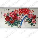 【已售】工笔牡丹绶带鸟 富贵牡丹