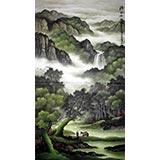 六尺精品山水画《清气满林香》