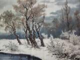 朝鲜一级画家金明振《山林的冬天》