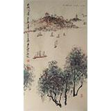 李明成三尺写意山水《太湖之滨》
