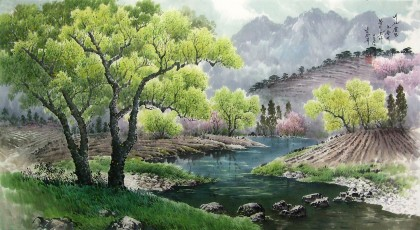 南光赫《在我的故乡》朝鲜国画