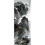 【已售】杨春四尺山水《清江帆影》