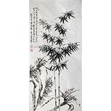 【已售】戚明四尺国画《兰竹图》