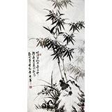 【已售】戚明三尺国画《兰竹图》