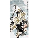 【已售】王芳三尺牡丹画《玉宇清辉》