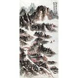 【已售】李明成三尺写意山水画《江南佳丽地》