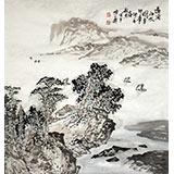 【已售】庾超然四尺斗方山水《远浦征帆图》