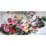 姜康精品六尺牡丹《天上人间富贵花》