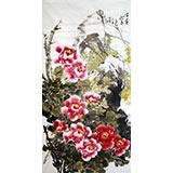 姜康四尺写意国画客厅牡丹《富贵迎春》