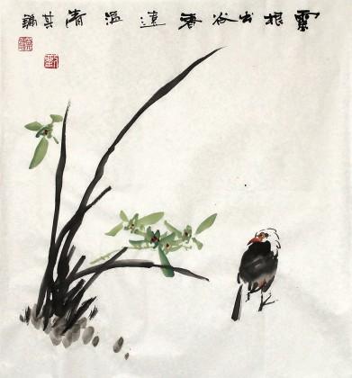 名家走廊字画《香远益清》 - 花鸟画