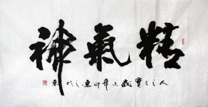 刘逸之四尺书法《精气神》