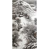 【已售】刘金河四尺精品《山乡雪韵》