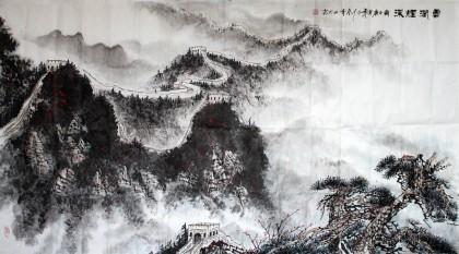 张春奇国画长城《云涧烟深》 - 写意山水画 - 99字画网
