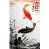 【已售定制询价】东方鱼圣周升达大三尺《双鱼图》询价
