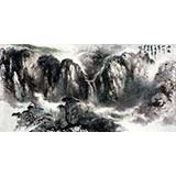 【已售】杨春四尺山水作品《雨后山川秀》