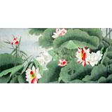 名家何怡四尺国画《香远》