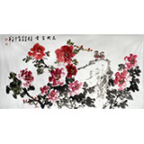 【已售】湖北美协会员庾超然作品《花开富贵》